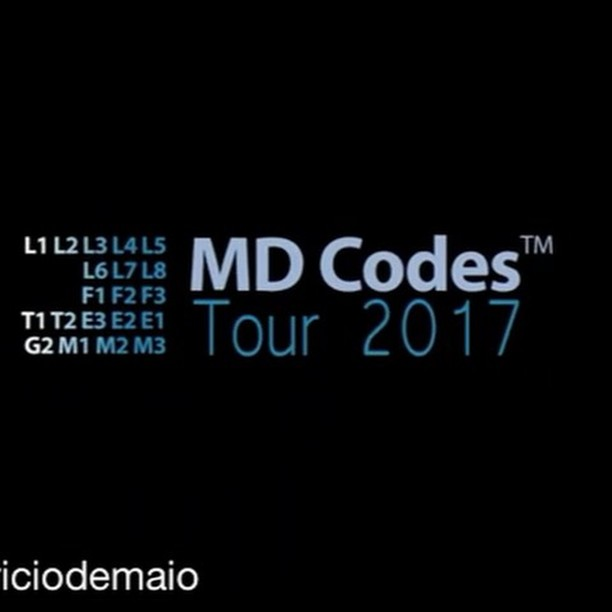 Um pouquinho de hoje pra vcs!#Repost @mauriciodemaio Dr de Maio is back to Brazil for the 2017 MD Codes Tour.A total of 1500 medical doctors were invited to participate in this outstanding program. August 9th and 10th will be the Visionary program and August 11th and 12th will be the Leaders program.See you there! #mauriciodemaio#MDCodes#MDCodesTour#MDCodesTour2017